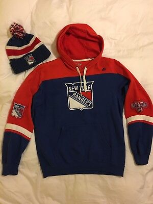 New York Rangers Majestic Hoodie CCM Knit Hat (NHL WinterClassic18 Special Sale)