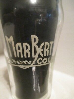 MAR BERT COLA - Vntage Soda Fountain  Glass ~ ACL