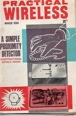 Practical Wireless Magazine. March 1966. Proximity Detector.