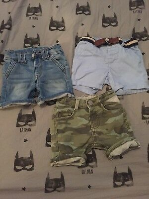Boys Next Shorts 9-12 months 3 pairs