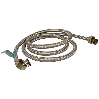 Stainless Steel Washing Machine Inlet Hose 1.5m Braided Hot & Cold Rated