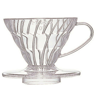 Hario v60 Pour Over 01 Coffee Dripper 1-2 Cups Clear VD-01T - Clear Plastic