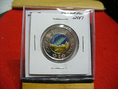 2017  Canada  2$ Two  Dollar  Coin  Toonie  17  Colored  Limited Edition  Unc.