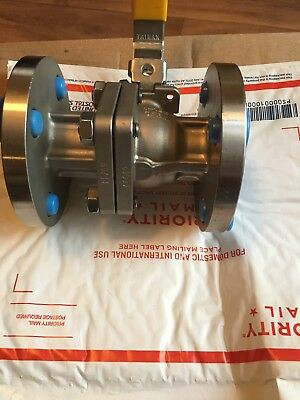 """1"""" Flow Tek F15 CF8M TFM-1600 Stainless Steel Flanged Ball Valve NEW"""