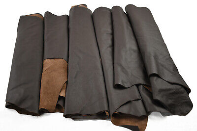Upholstery Leather Scraps - Earth tone cowhide pieces | Hand or larger