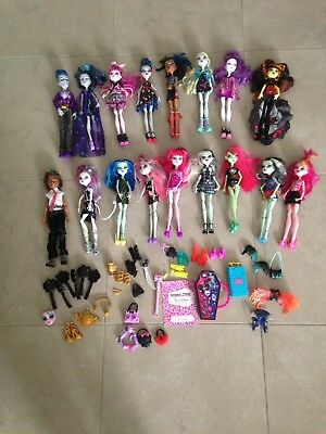 17 x Monster High Dolls and Some Accessories