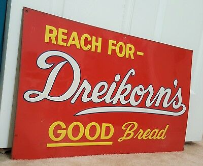 Vintage Advertising Sign ~ Dreikorn's Good Bread