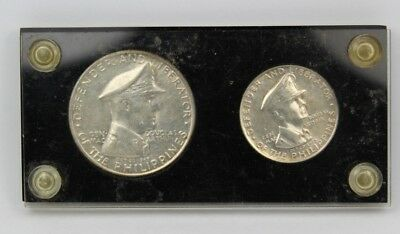 1947-S Philippines 2-Coin Silver Set One Peso Fifty Centavos MacArthur Set