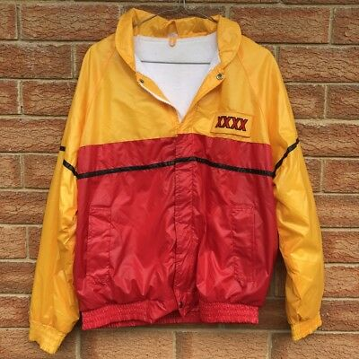 Vintage Xxxx - 4X - Beer - Promotional Jacket - Zip-Up Nylon - Red/yellow Sz Med