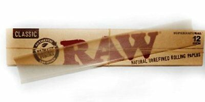 "Raw Supernatural 12"" Inch Foot Long Rolling Paper Classic 1 Pack  Raw Threads"