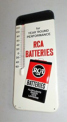 RCA Batteries vintage metal thermometer