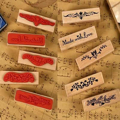 Student Vintage strip wooden rubber stamp kid DIY handmade scrapbook Crafts gift