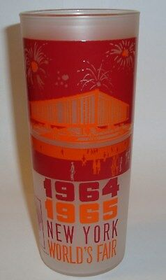 Vintage 1964 1965 New York World's Fair Frosted Drinking Glass Federal Pavilion