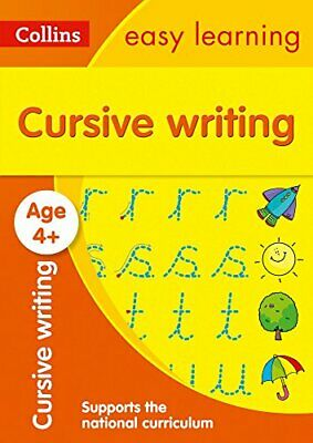 Cursive Writing Ages 4-5 Collins Ea by Collins Easy Learning New Paperback Book