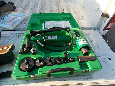Greenlee Hydraulic 7646 Knockout Punch Set With 2, 1 1/2, 1 1/4, 1, 3/4 1/2 Dies
