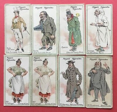 John Player Cigarette Cards 1923 Characters From Dickens Lot Of 8