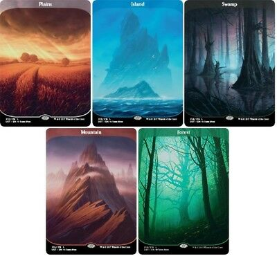 Unstable MTG Full Art Basic Land Set, 1 of each land