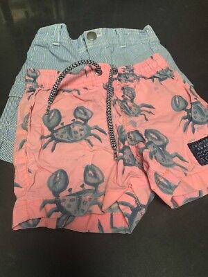 Boys Country Road Shorts 2 pairs Size 12-18mths