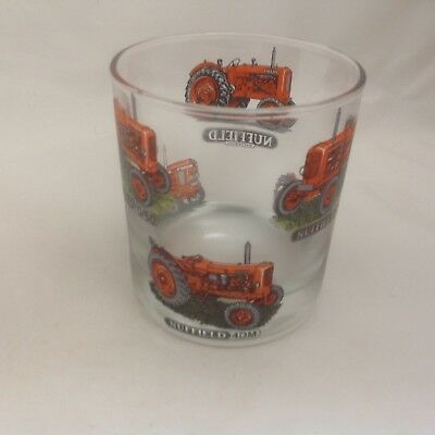 Nuffield  With  6 Different  Tractor  On Large Heavey Base Whisky Tumbler Glass