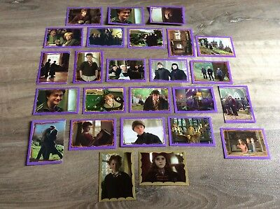 2004 HARRY POTTER STICKER CARDS x25 INC GOLDS PRISONER OF AZKABAN RARE CHEAP AUS