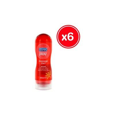 DUREX PLAY GEL DE MASAJE SENSUAL 200 ML (6 UDS) (Cod 11)