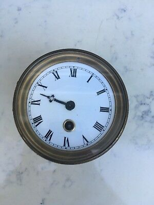 French Clock Movement 8D Time Piece, Repair, 119mm x122mm