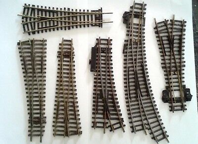 6 x Points Assorted Hornby and Peco Model Railway Track Repair Restore Code 100