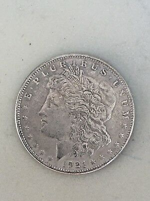 1921 US One Dollar Silver Coin