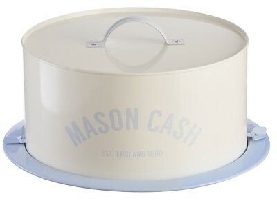 Mason Cash Bakewell Large White Vintage Metal Cake Tin Box 34 cm