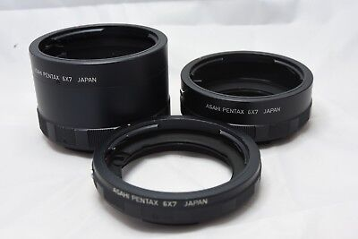 Pentax Asahi Extension Tube Set for 6x7 67 Cameras - Set of Three
