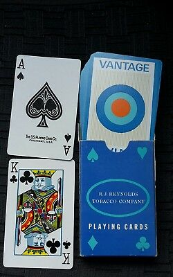Playing Cards Poker R.J. Reynolds Tobacco Company Vantage Tabak Werbung  52 Bl.