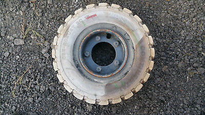 Forklift Tire with Wheel White Rubber 180/70-8/4.33
