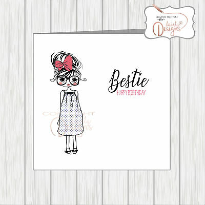 Bestie Birthday Card Personalised Special Bestie For Best Friend