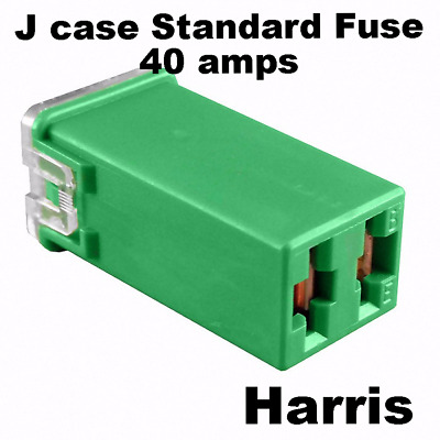 J Case Fuse Standard Female  Cartridge Green Fuse 40 Amps