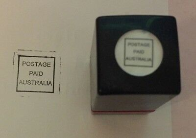 Stamp Postage Paid Australia&paid&invoiced&shipped pre-inked business AusPost
