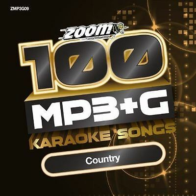 Zoom Karaoke MP3+G Disc - 100 Songs - Country New Sealed