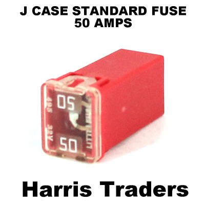 J Case Fuse Standard Female  Cartridge Red Fuse 50 Amps