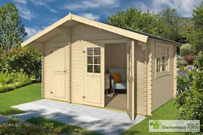 34 mm gartenhaus rovanimie durchgangsh he t r 2 m ger tehaus blockhaus holzhaus eur 620 00. Black Bedroom Furniture Sets. Home Design Ideas