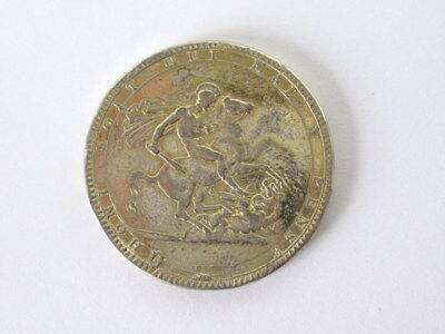 Great Britain George III Crown 1819 Ex Mounted Coin Silver  #CIV