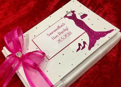Personalised Birthday Guest Book Gift Party 18th 21st 40th 50th 60th Hen Night