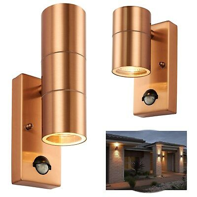 Outside Entrance Wall Light Garage PIR Sensor Security Up / Down Lantern COPPER