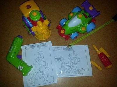 lot  2 jouets  animated models build and play / train / formule 1