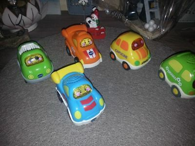 lot  de 5 tut tut bolides  vtech + cadeau le press and go offert