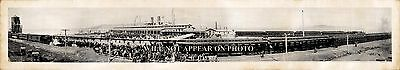 """1915 Great Northern Pacific Railroad Terminals Flavel Oregon Panoramic Photo 40"""""""