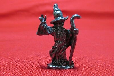 Pewter Fantasy Wizard With Crystal Ball Figurine