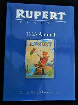 Superb Mint 1963 Rupert Bear Limited Edition Facsimilie Annual With Slip Case