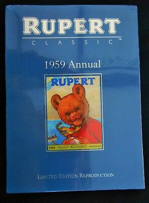 Superb Mint 1959 Rupert Bear Limited Edition Facsimilie Annual With Slip Case