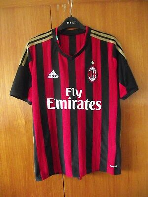AC Milan Football Shirt adidas home shirt 2013 size S 36/38 HONDA 10 on back