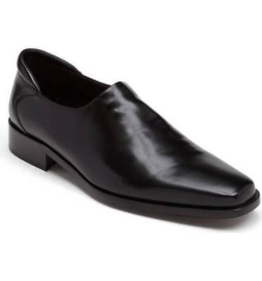 $487 DONALD J PLINER Mens BLACK LEATHER CASUAL SLIP ON DRESS LOAFERS SHOES 10.5