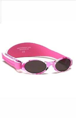 Baby Banz Adventurer Sunglasses Pink Camo 0-2 Years Girls 100% UV Protection